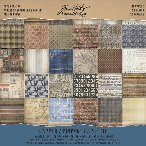 Tim Holtz Idea-ology 12 x 12 Paper Stash DAPPER TH93260 Preview Image