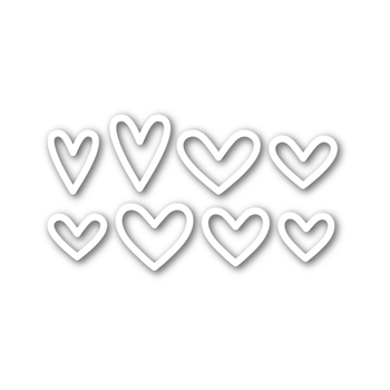 Simon Says Stamp MINI HEARTS OUTLINE Wafer Die sssd111571