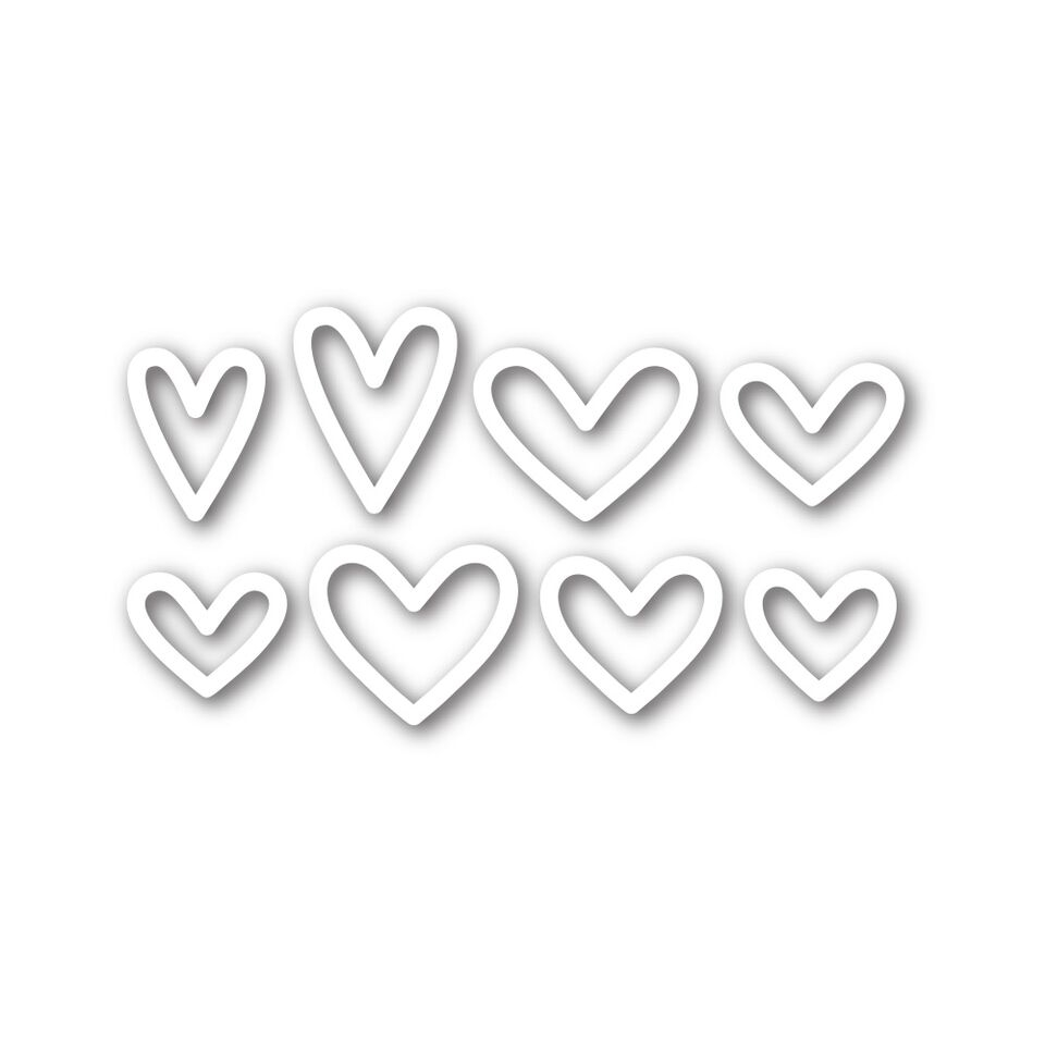 Simon Says Stamp MINI HEARTS OUTLINE Wafer Thin Die sssd111571 zoom image