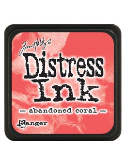 Tim Holtz Distress Mini Ink Pad ABANDONED CORAL Ranger TDP46769