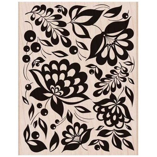 Hero Arts Rubber Stamp Designblock LARGE FLORAL BACKGROUND S6150 Preview Image