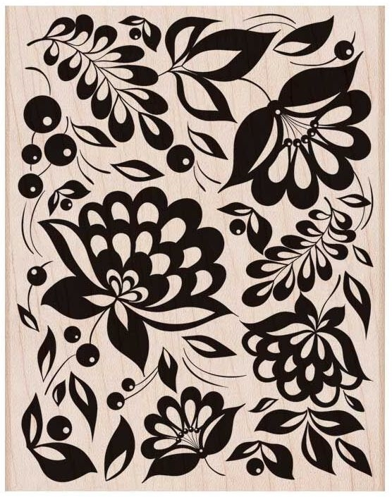 Hero Arts Rubber Stamp Designblock LARGE FLORAL BACKGROUND S6150* zoom image