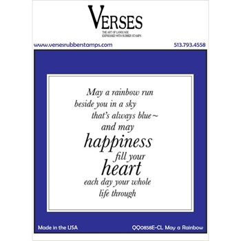 Verses MAY A RAINBOW Cling Stamp QQ0858ECL
