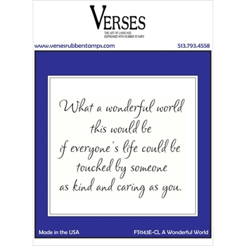 Verses A WONDERFUL WORLD Cling Stamp FS1143ECL