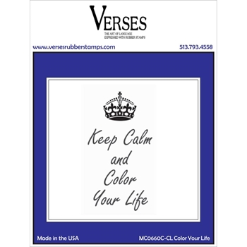 Verses COLOR YOUR LIFE Cling Stamp MC0660CCL
