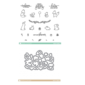 Mama Elephant Clear Stamp and Die MEPT218 New Family SET