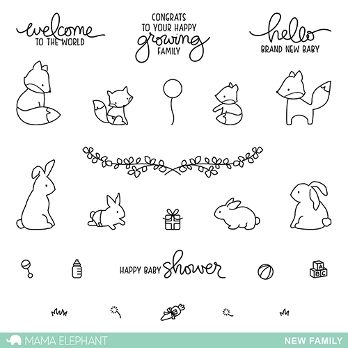 Mama Elephant Clear Stamps NEW FAMILY Preview Image