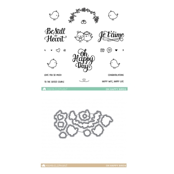 Mama Elephant Clear Stamp and Die MEPT216 Oh Happy Birds