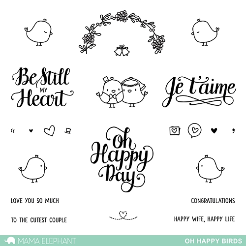 Mama Elephant Clear Stamp OH HAPPY BIRDS Set Preview Image