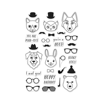 Hero Arts Clear Stamps HIPSTER ANIMALS CL952