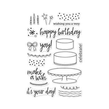 Hero Arts Clear Stamps BIRTHDAY CAKE LAYERING CL950