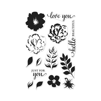 Hero Arts Clear Stamps COLOR LAYERING FOR YOU FLOWERS CL944