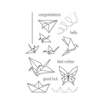 Hero Arts Clear Stamps ORIGAMI ANIMALS CL942