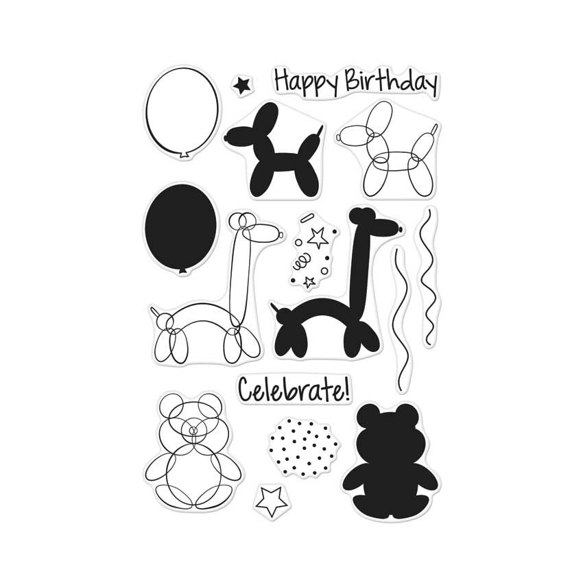 Hero Arts Clear Stamps BALLOON ANIMAL BIRTHDAY CL940 zoom image