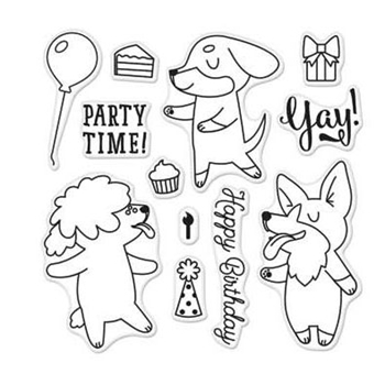 Hero Arts Clear Stamps PARTY TIME By Lia CL928