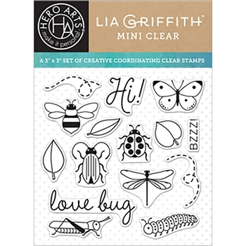 Hero Arts Clear Stamps LOVE BUG By Lia CL927