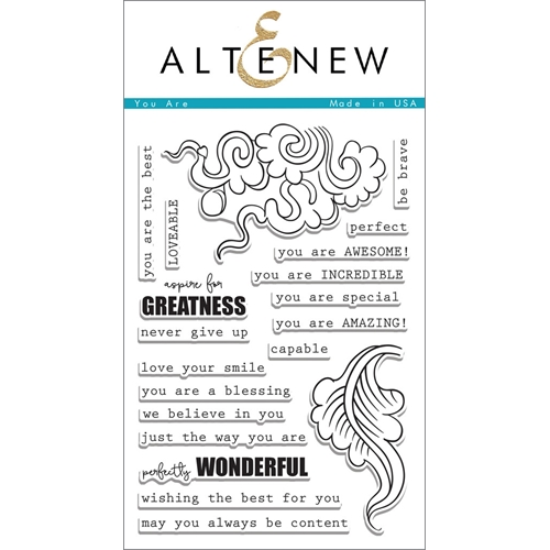 Altenew YOU ARE Clear Stamp Set  Preview Image