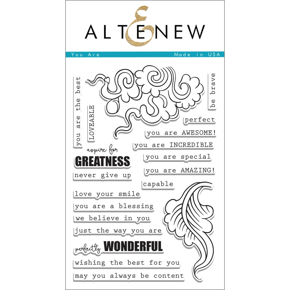 Altenew YOU ARE Clear Stamp Set  zoom image