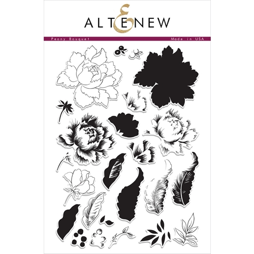 Altenew PEONY BOUQUET Clear Stamp Set ALT1030 Preview Image