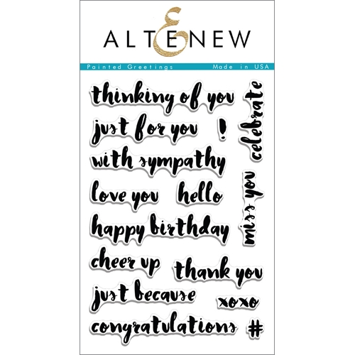 Altenew PAINTED GREETINGS Clear Stamp Set ALT1097 Preview Image