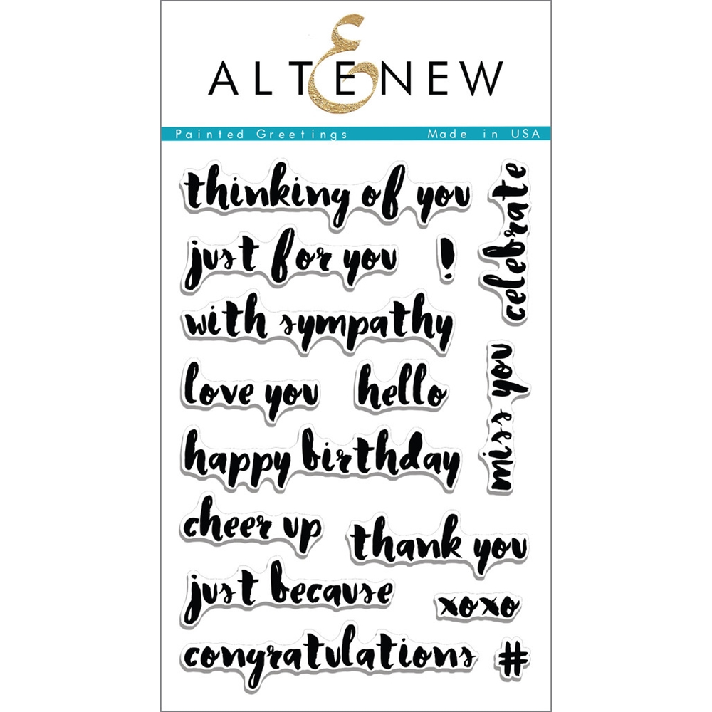 Altenew PAINTED GREETINGS Clear Stamp Set ALT1097 zoom image