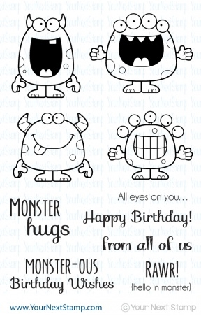 Your Next Stamp SILLY MONSTERS Clear CYNS047 zoom image