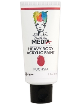 Dina Wakley Ranger FUCHSIA Media Heavy Body Acrylic Paints MDP48831