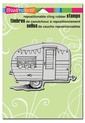 Stampendous Cling Stamp TINY TRAILER Rubber UM CRP283 Preview Image