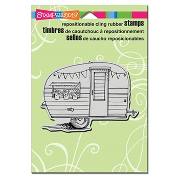 Stampendous Cling Stamp TINY TRAILER Rubber UM CRP283