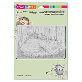 Stampendous Cling Stamp CAT NAP Rubber UM HMCP46 House Mouse