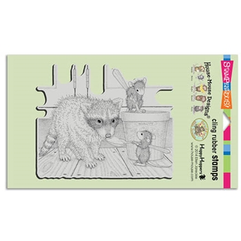 Stampendous Cling Stamp ICE CREAM BANDIT Rubber UM HMCR53 House Mouse