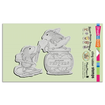 Stampendous Cling Stamp PEPPER POWER Rubber UM HMCR48 House Mouse