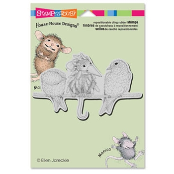 Stampendous Cling Stamp TWEET DISGUISE Rubber UM HMCP39 House Mouse
