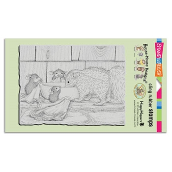 Stampendous Cling Stamp ODORABLE FRIEND Rubber UM HMCR51 House Mouse