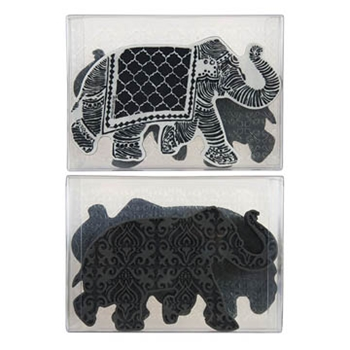 Stampendous ELEPHANT FOAM STAMP, CLING STAMP AND STENCIL SET