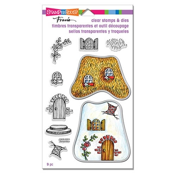 Stampendous COTTAGE HOME Clear Stamps and Die Set CSD06