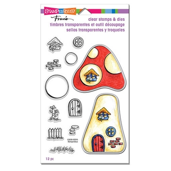 Stampendous MUSHROOM HOME Stamp and Die Set CSD05