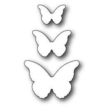 Memory Box CASCADIA BUTTERFLY TRIO Craft Die 99095 Preview Image