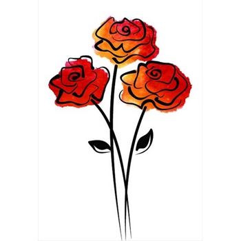 Rubbernecker ROSE TRIO Layering Cling Stamps 905