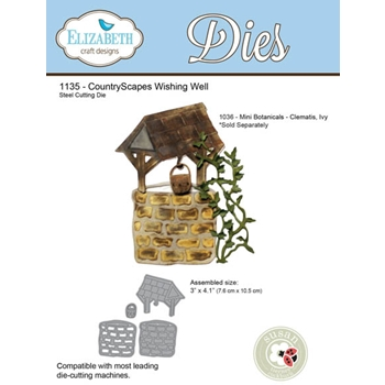 Elizabeth Craft Designs COUNTRYSCAPES WISHING WELL Die 1135