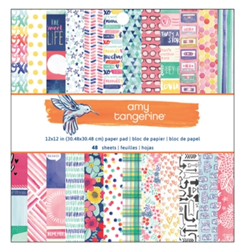 American Crafts Amy Tangerine 12x12 BETTER TOGETHER Paper Pad 373985