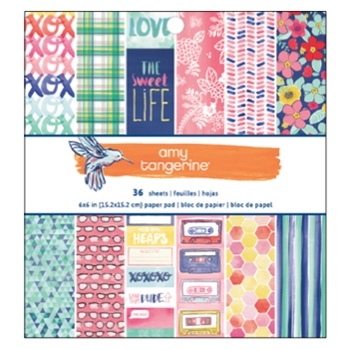 American Crafts Amy Tangerine 6x6 BETTER TOGETHER Paper Pad 373986