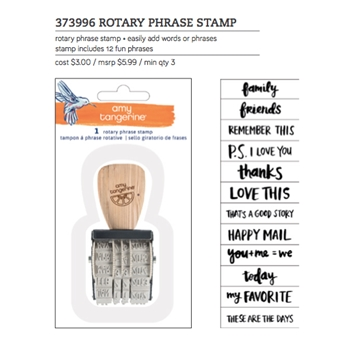 American Crafts Amy Tangerine ROTARY PHRASE STAMP Better Together 373996