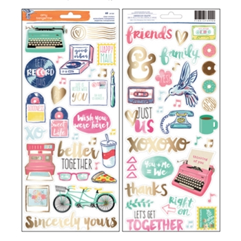 American Crafts Amy Tangerine CLEAR STICKERS Better Together 373990