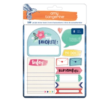 American Crafts Amy Tangerine STICKER BOOK Better Together 373992