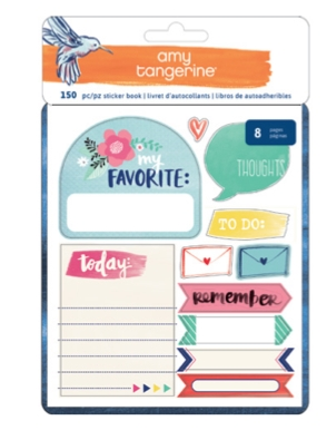 American Crafts Amy Tangerine STICKER BOOK Better Together 373992 zoom image