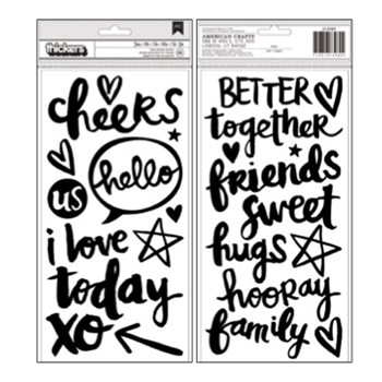 American Crafts Amy Tangerine YOU AND ME Foam Phrase Stickers Better Together 373989