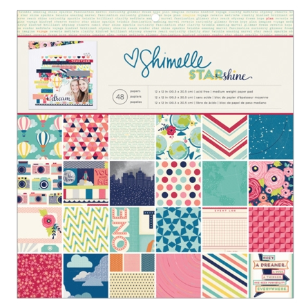 American Crafts Shimelle 12x12 STARSHINE Paper Pad 374046 zoom image