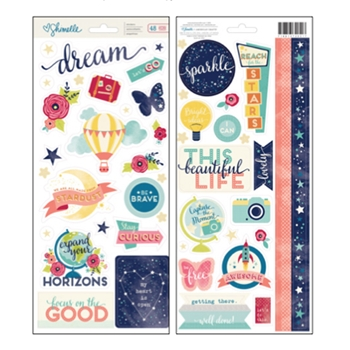 American Crafts Shimelle ACCENTS AND PHRASES Stickers Starshine 374051