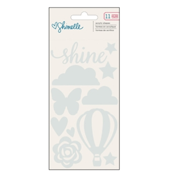 American Crafts Shimelle ACRYLIC SHAPES Starshine 374054